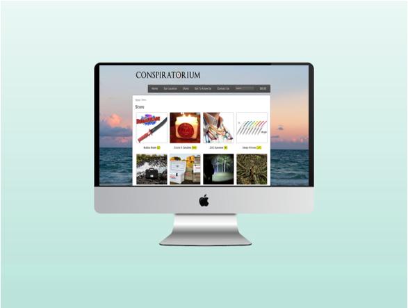 Website for Conspiratorium in Port Aransas, Texas