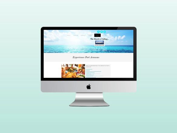 Website for Lisa Hamblen Hood Realtor in Port Aransas Texas