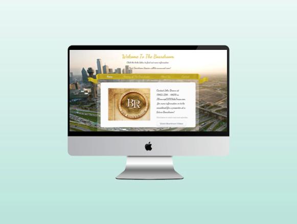 Website for The Boardroom in Denton Texas