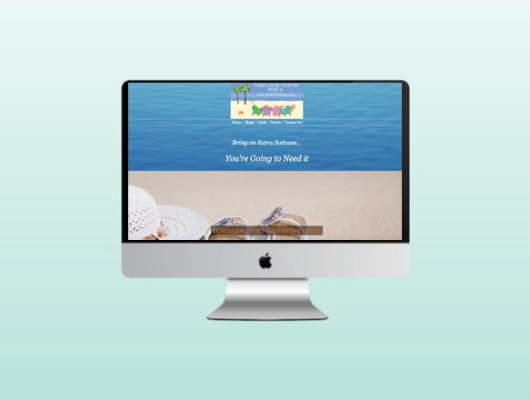 Website for Visit Port Aransas (PA Shopping)