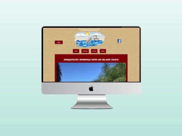 Website for Massage in a Bottle in Port Aransas Texas